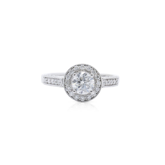Halo Design Diamond Engagement Ring Rings Miscellaneous