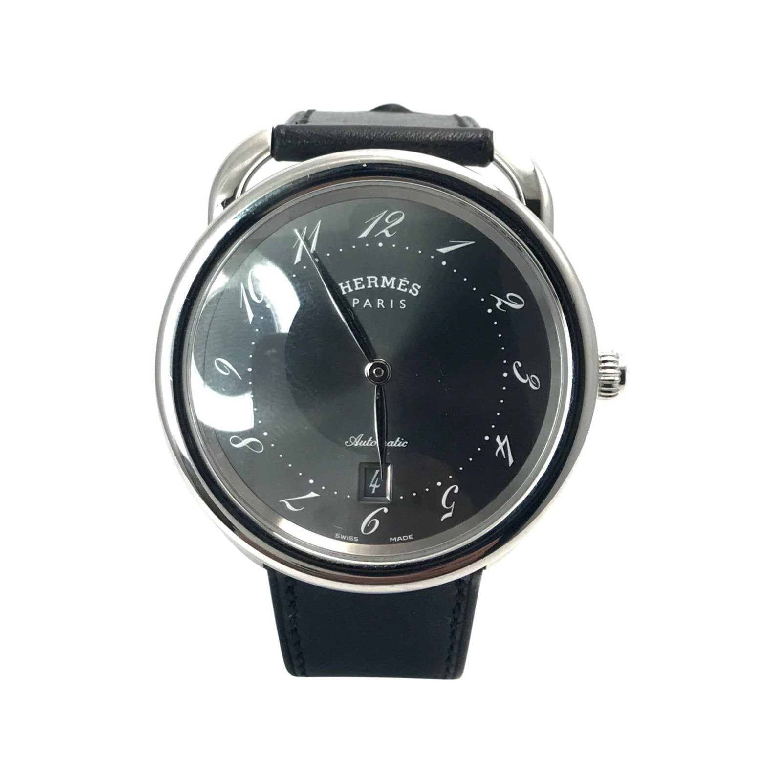 e4837fde8694f Hermes Arceau Automatic Wrist Watch In Stainless Steel - Watches ...