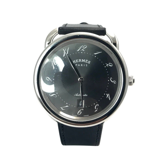 Hermes Arceau Automatic Wrist Watch in Stainless Steel Watches Hermes