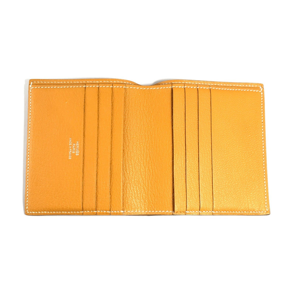 Hermes Orange Mini Evelyn Wallet Wallets Hermes