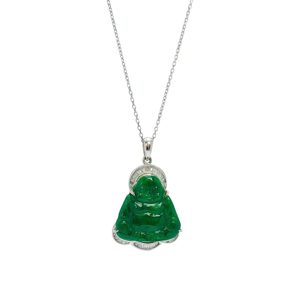 Jade and Diamond Buddha Pendant Charms & Pendants Miscellaneous