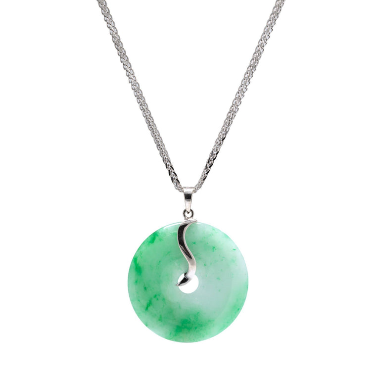 Jade Circle Pendant Necklace Necklaces Miscellaneous