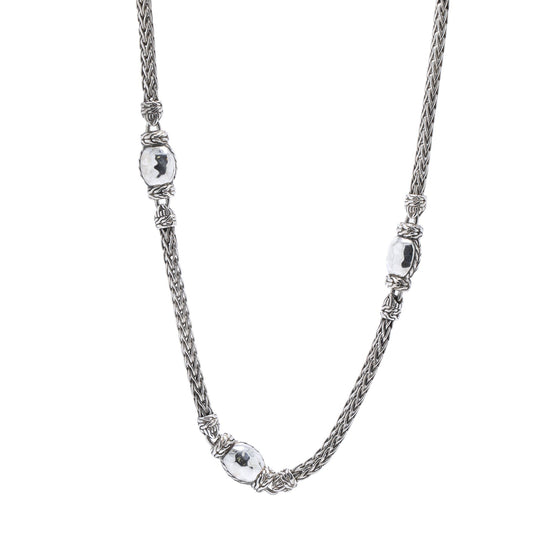 John Hardy Classic Chain Hammered Station Necklace Necklaces John Hardy