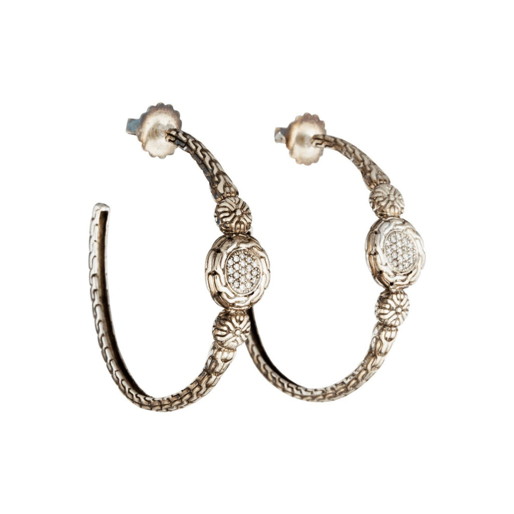 John Hardy Diamond Hoop Earrings Earrings John Hardy