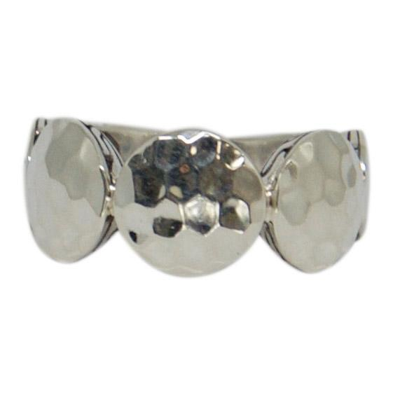 John Hardy Dot Collection Band Ring in Hammered Silver Rings John Hardy