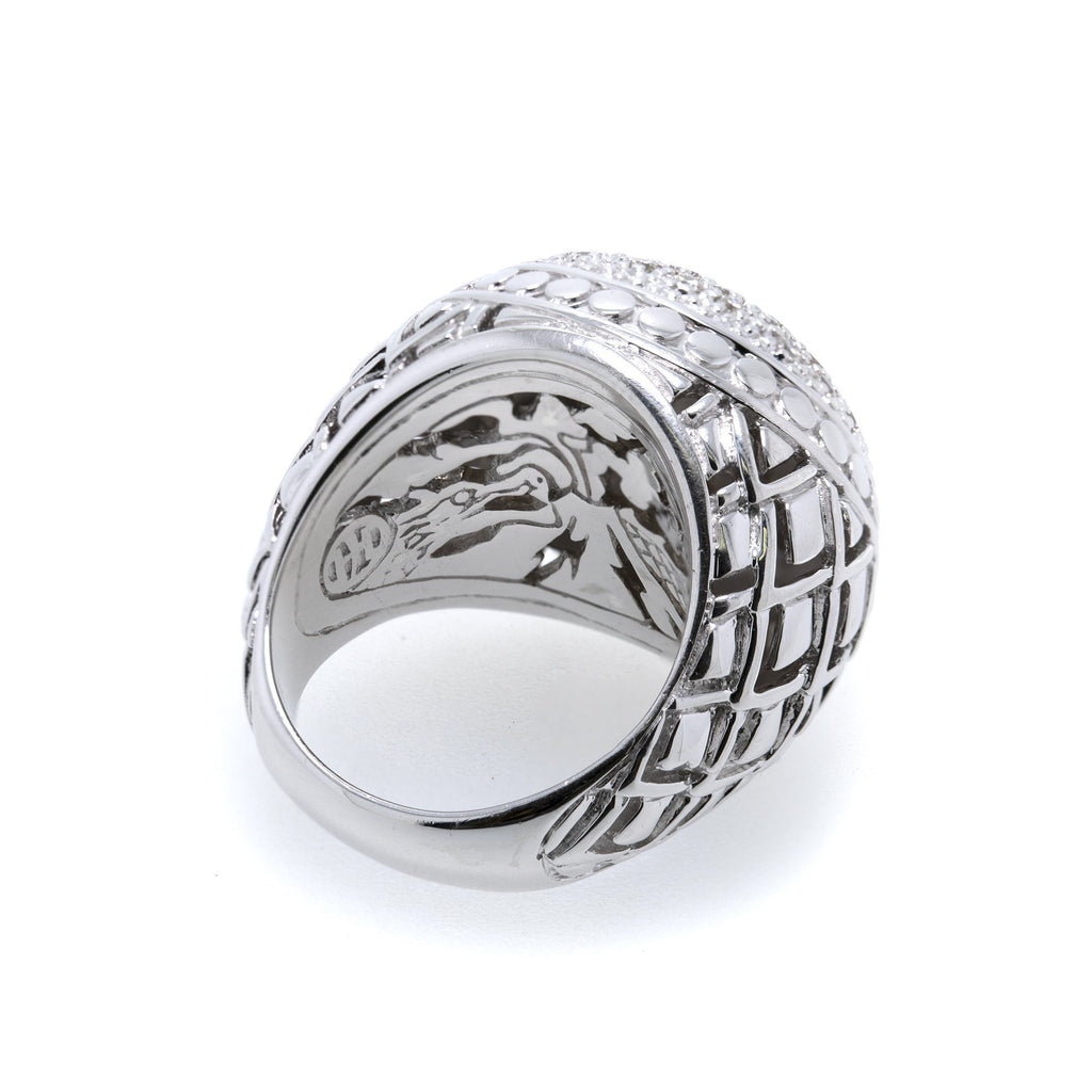 John Hardy Pave Diamond Naga Dome Ring Rings John Hardy