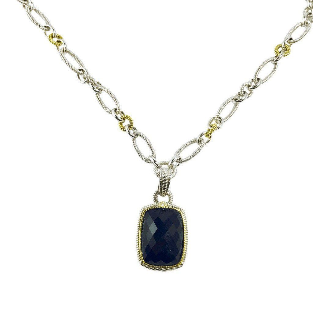 Judith Ripka Black Onyx Pendant Necklace Necklaces Judith Ripka
