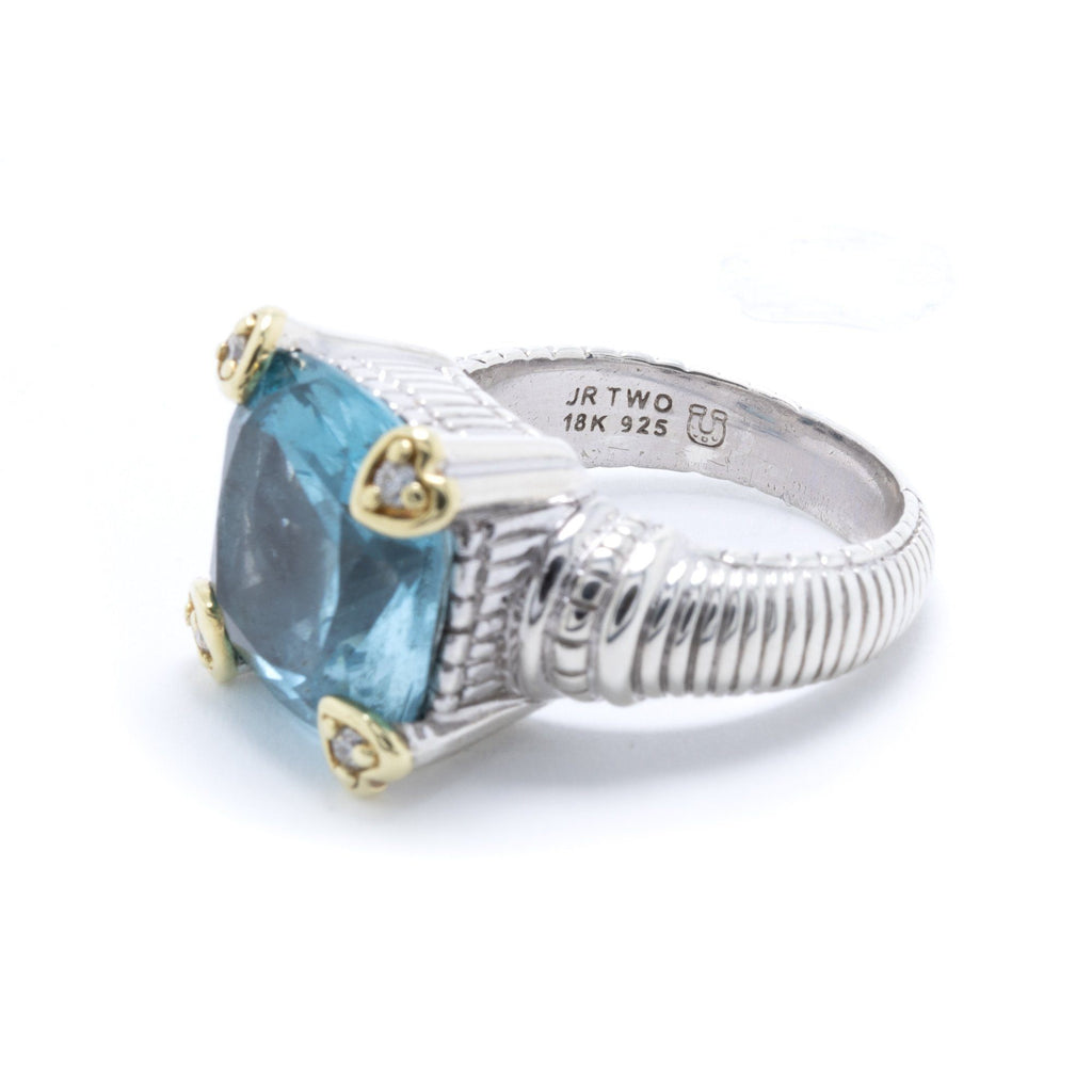 Judith Ripka Blue Topaz & Diamond Ring Rings Judith Ripka