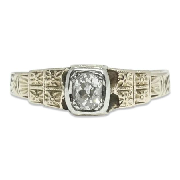 Antique Diamond Ring - Rings