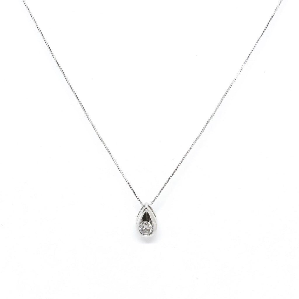Diamond Solitaire Pendant Necklace - Necklaces