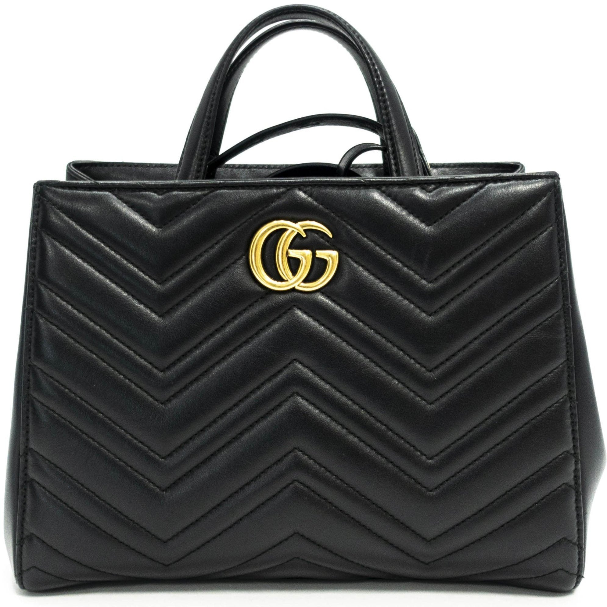 8fc7385f39a6 Gucci GG Marmont Small Matelasse Top Handle Bag - Oliver Jewellery