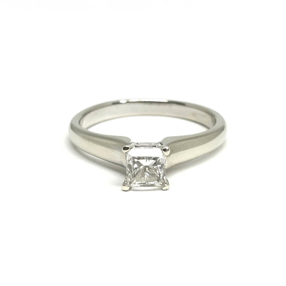 Princess Cut Diamond Solitaire Engagement Ring - Rings