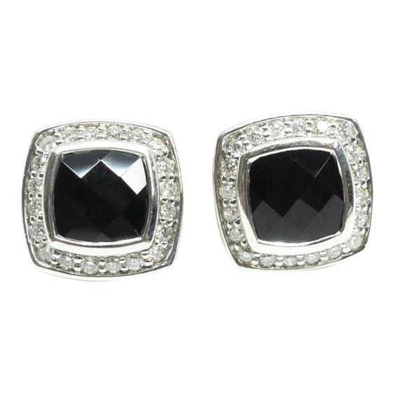 David Yurman Petite Albion Earrings With Black Onyx And Diamonds - Earrings