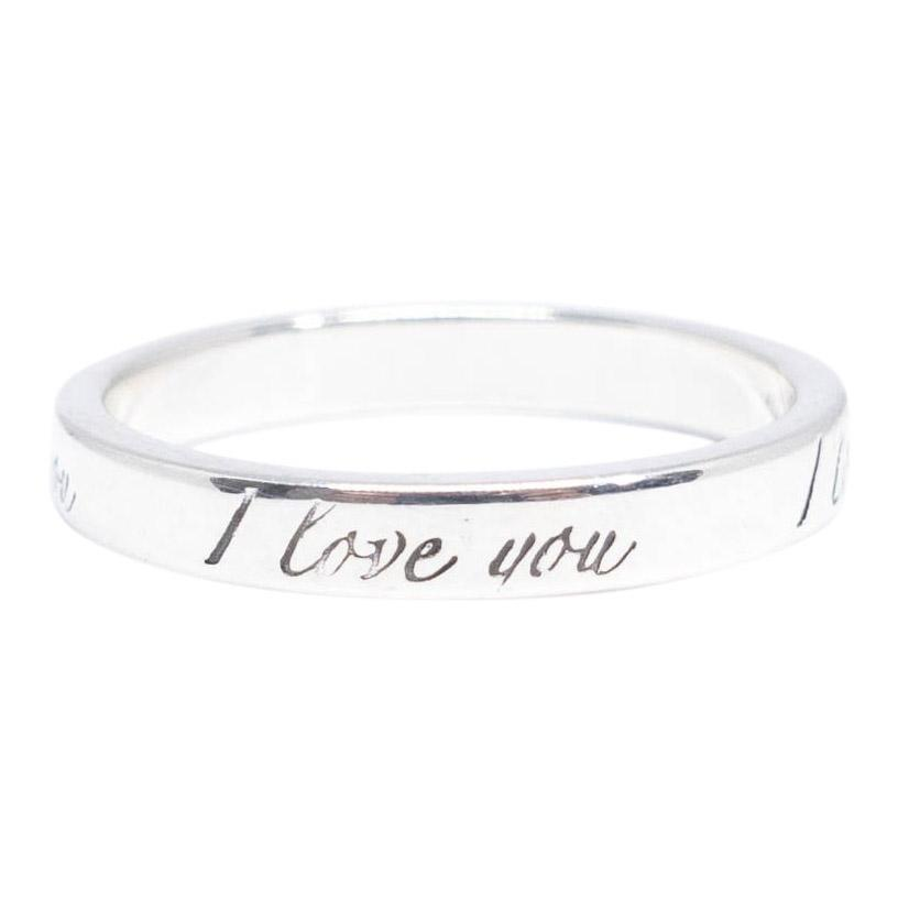 "Tiffany & Co. Notes ""I Love You"" Ring Rings Tiffany & Co."