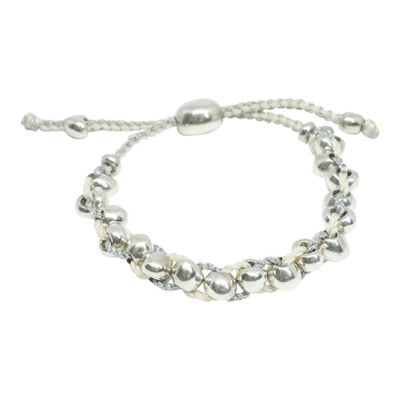Links of London Silver and White Friendship Bracelet Bracelets Links of London