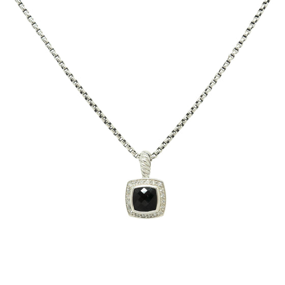 David Yurman Petite Albion Pendant With Black Onyx And Diamonds - Necklaces