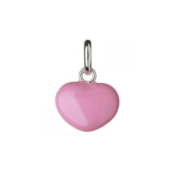 Links of London Mini Pink Heart Charm in Sterling Silver Charms & Pendants Links of London