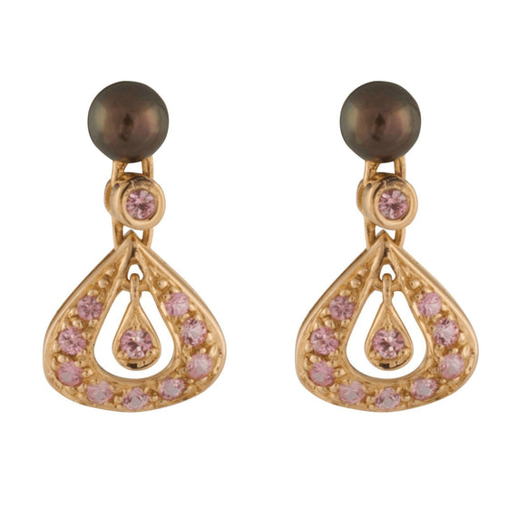 Links of London Pearl and Pink Sapphire Earrings Earrings Links of London