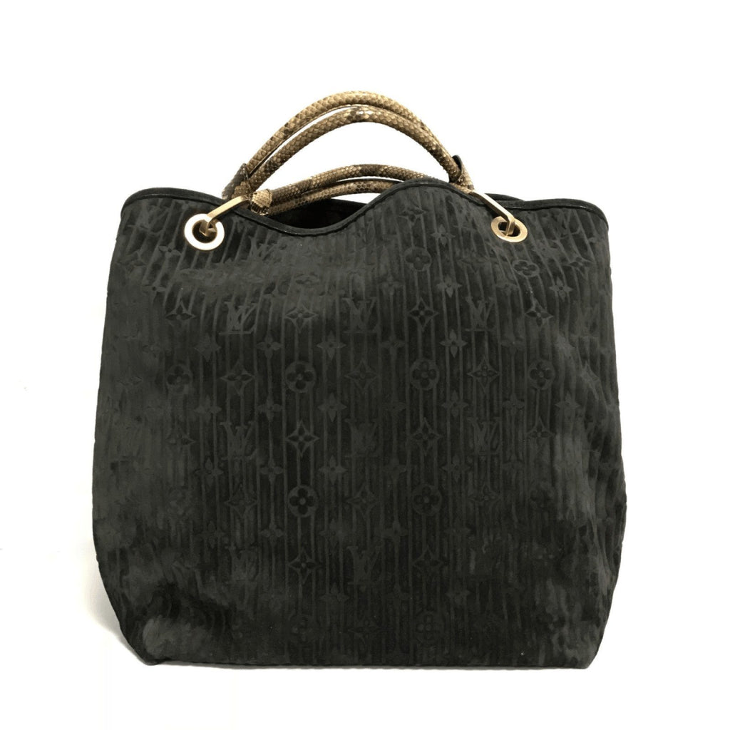 Louis Vuitton Black Suede Whisper GM Khol Bags Louis Vuitton