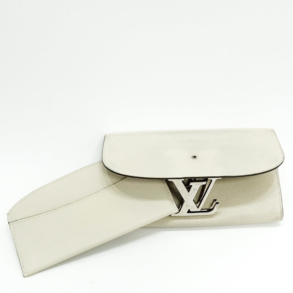 Louis Vuitton Blanc Classe Veau Cachemire Vivienne Long Wallet Wallets Louis Vuitton