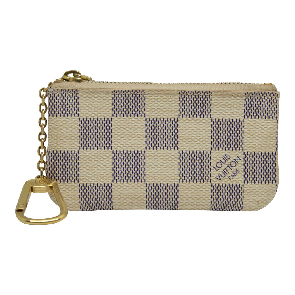 Louis Vuitton Damier Azur Key Pouch Accessories Louis Vuitton