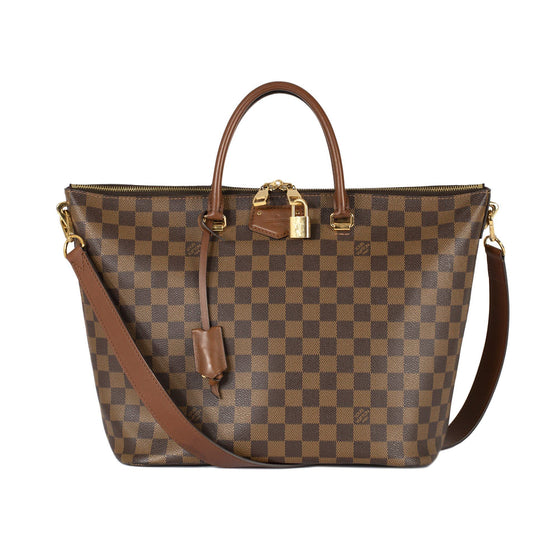 Louis Vuitton Damier Ebene Belmont Tote Bags Louis Vuitton