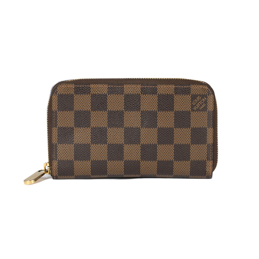 Louis Vuitton Damier Ebene Compact Zippy Wallet Wallets Louis Vuitton