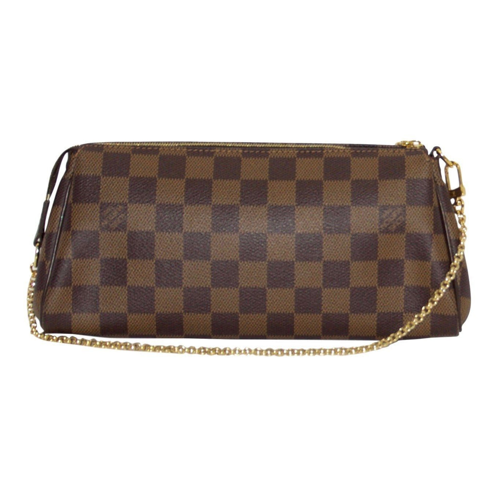 Louis Vuitton Damier Ebene Eva Clutch Bags Louis Vuitton