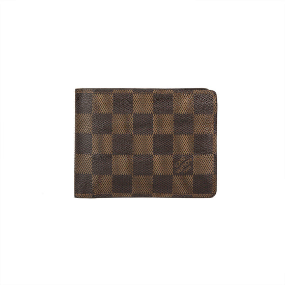 Louis Vuitton Damier Ebene Multiple Wallet w/ Box Wallets Louis Vuitton