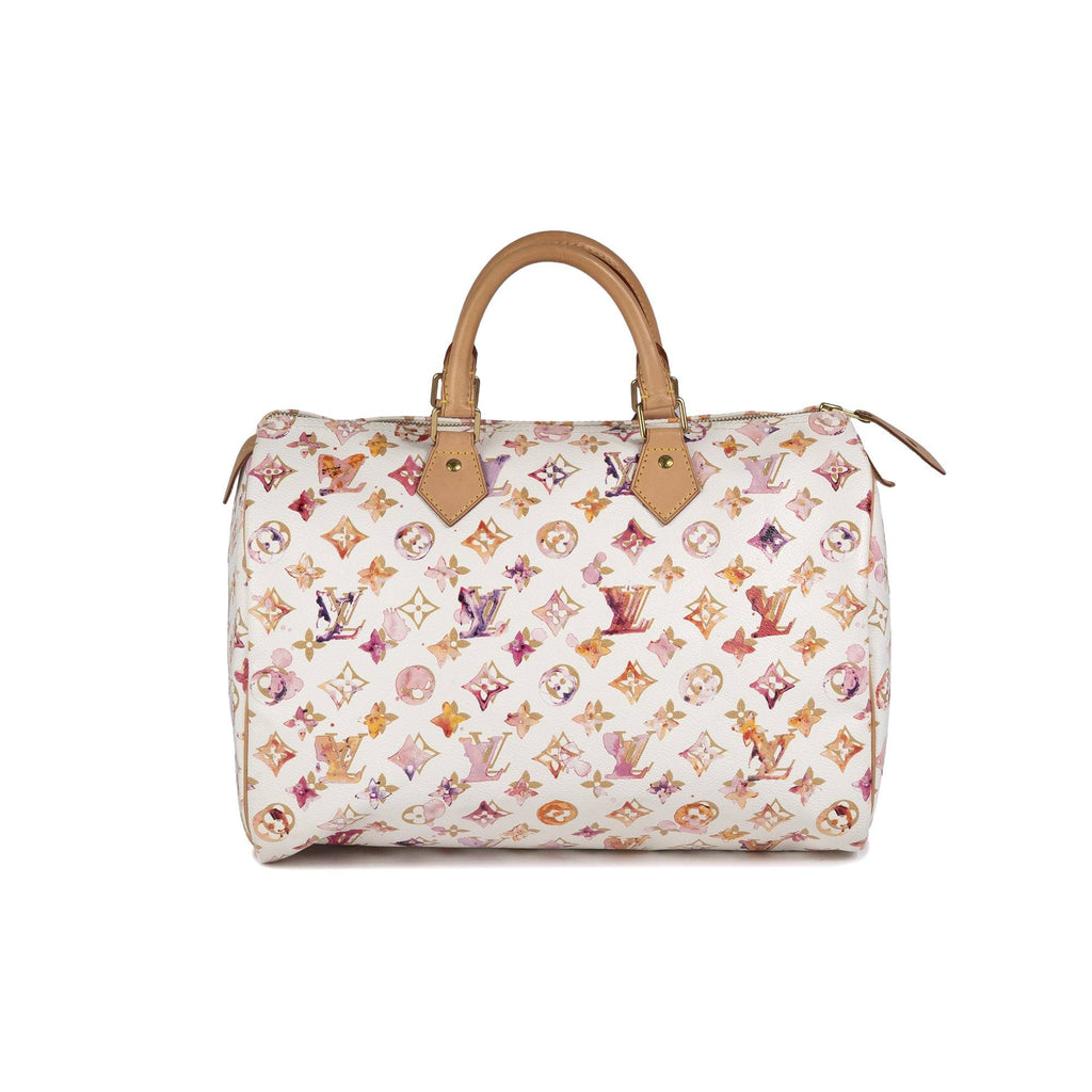 Louis Vuitton Limited Edition Monogram Watercolor Aquarelle Speedy 35 Bags Louis Vuitton