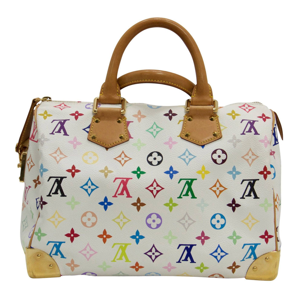 Louis Vuitton Limited Edition Takashi Murakami Collection Multicolore Speedy 30 Bags Louis Vuitton