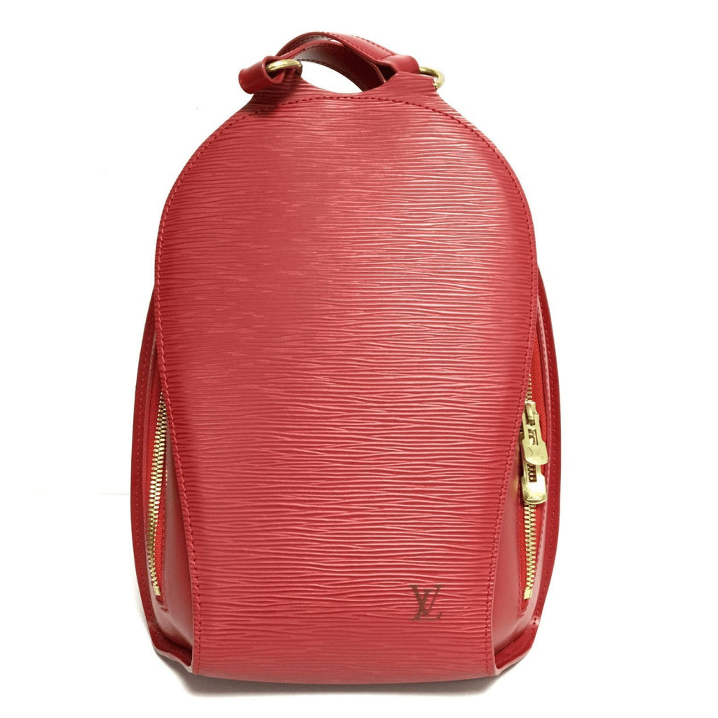 Louis Vuitton Red Epi Mabillon Backpack Bags Louis Vuitton