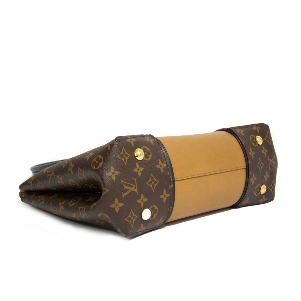 Louis Vuitton W Monogram Cuir Orfèvre Tote Noisette Pm Bag - Bags