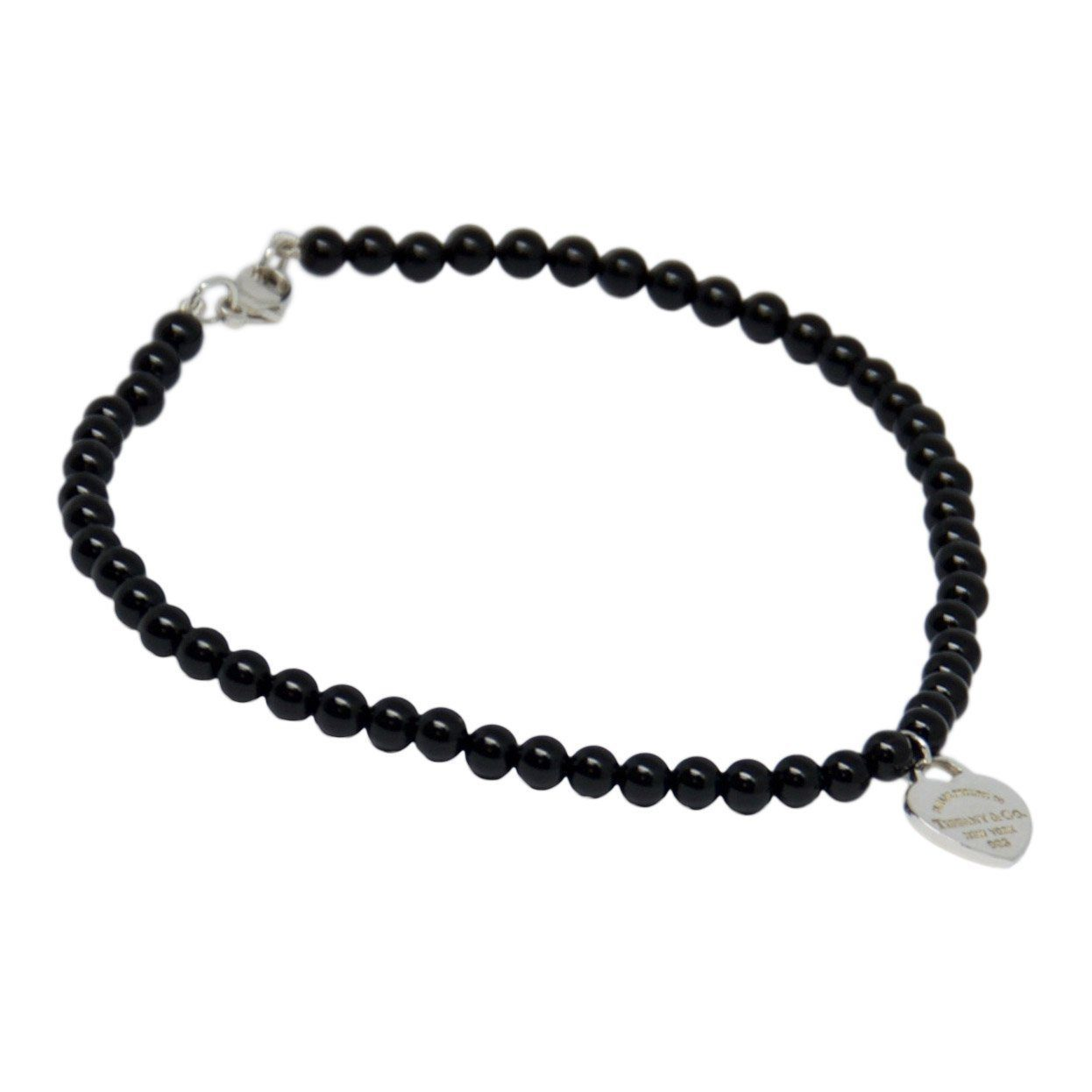 2a1cb10e3 Tiffany & Co. Return to Tiffany Mini Heart Tag Onyx Bead Bracelet Bracelets  Tiffany ...