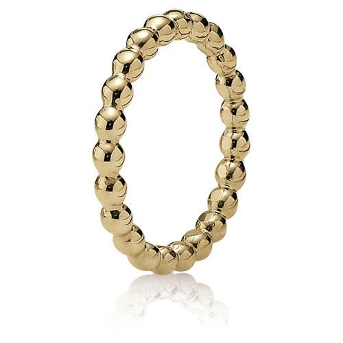 Pandora 14k Gold Bubble Ring Size 5 1/4 Rings Pandora