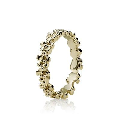 Pandora 14k Gold Flower Ring Size 5 Rings Pandora