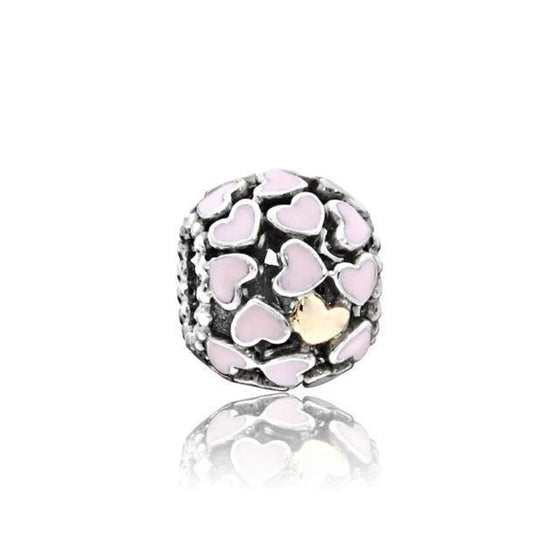 Pandora 2-Tone Abundance of Love Charm with Pink Enamel Charms & Pendants Pandora