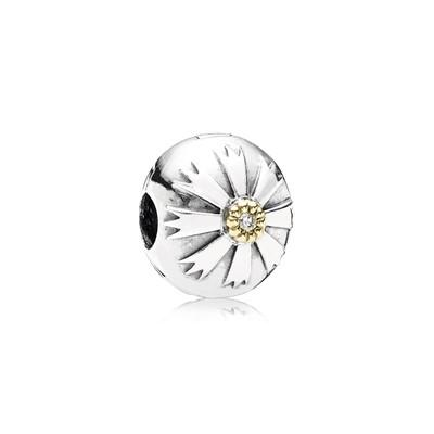 Pandora 2-Tone Friendship Flower Clip Charm Charms & Pendants Pandora