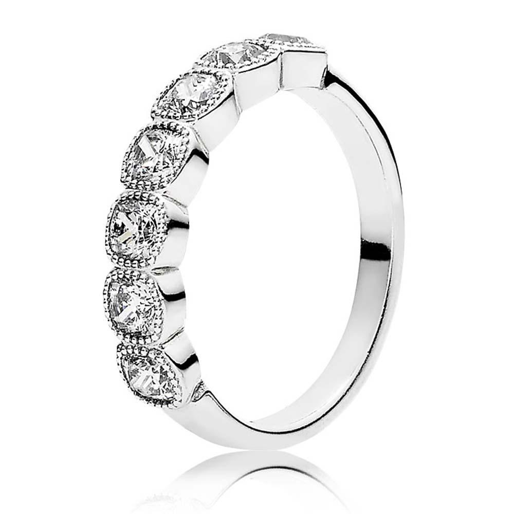 Pandora Alluring Cushion Ring, Size 6 Rings Pandora