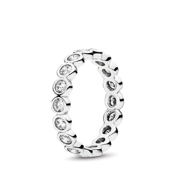 Pandora Alluring Petite Brilliant Stackable Ring with Clear CZ, Size 6 Rings Pandora