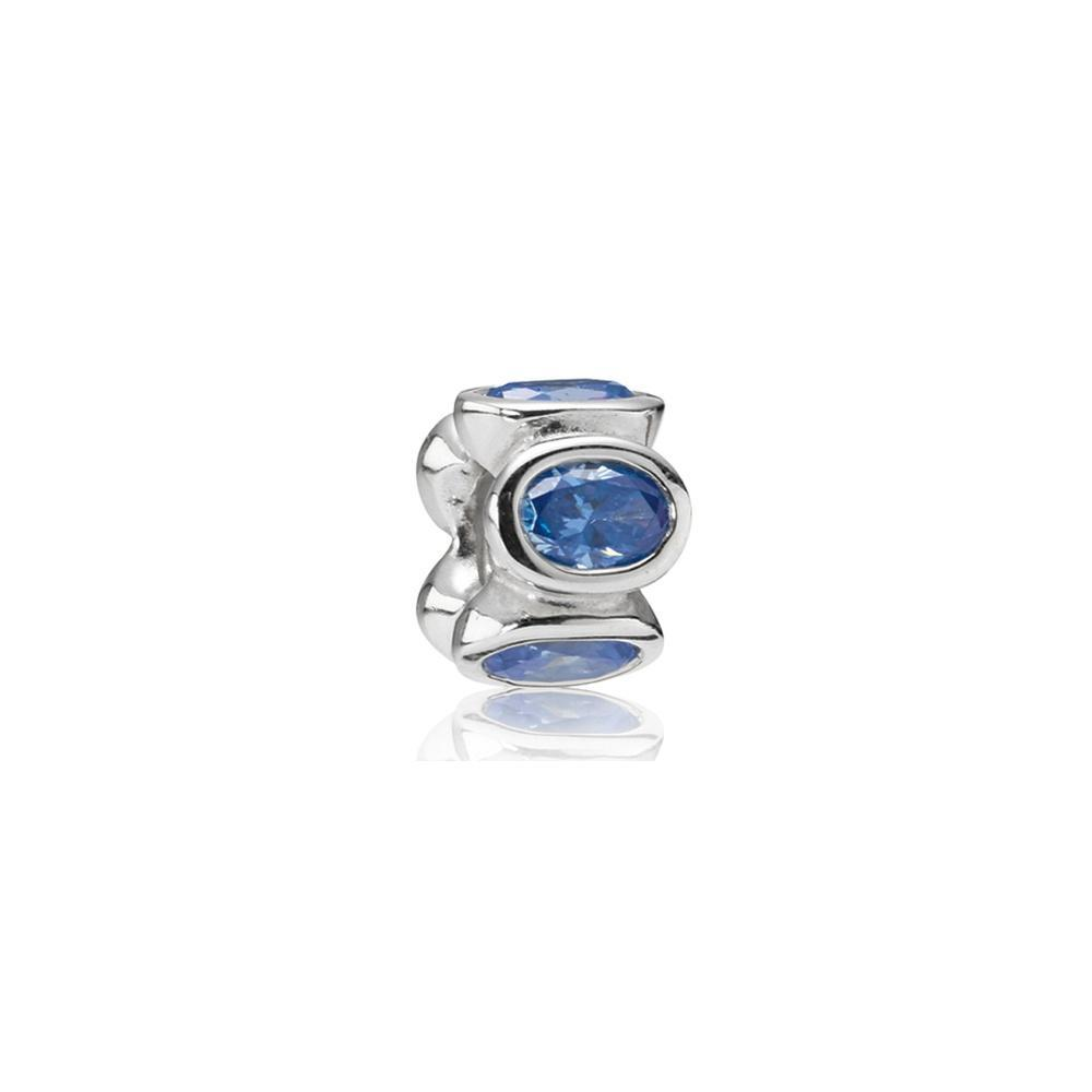 Pandora Blue Oval Lights Charm Charms & Pendants Pandora
