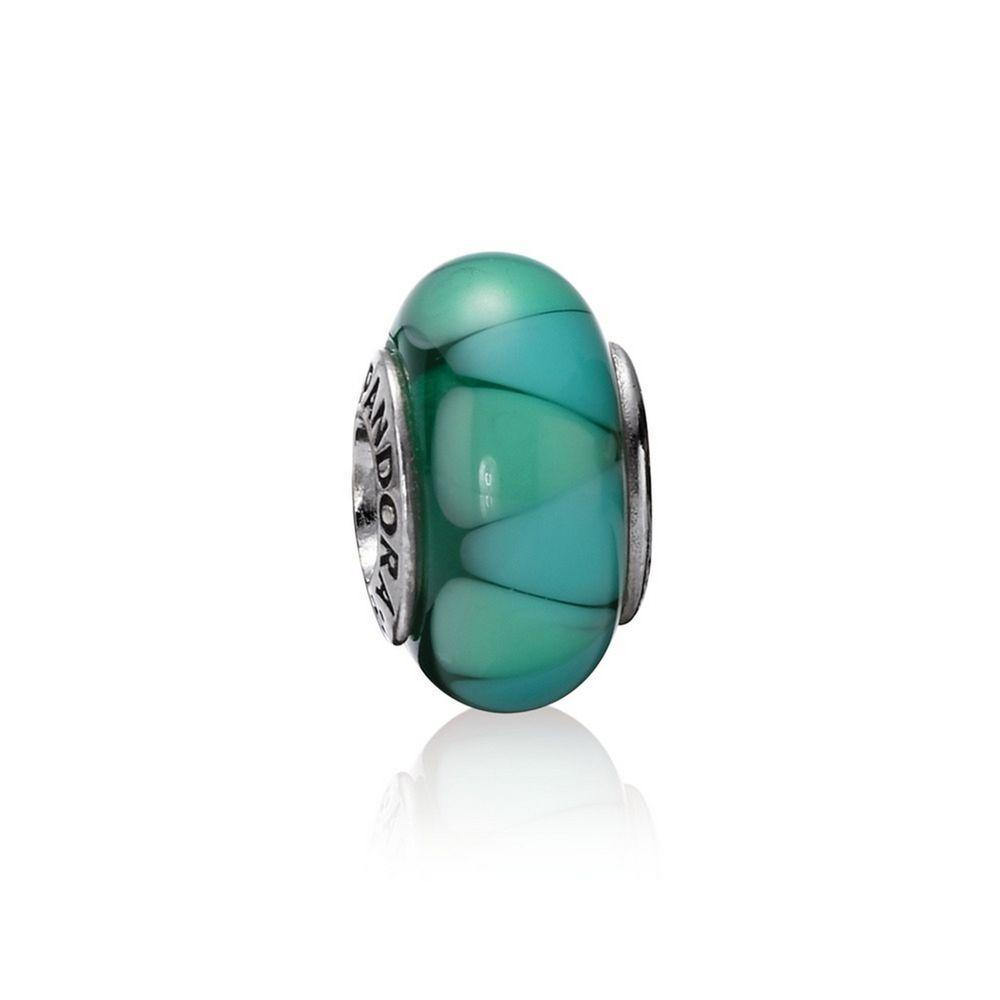 Pandora Captivating Green Murano Glass Charm Charms & Pendants Pandora