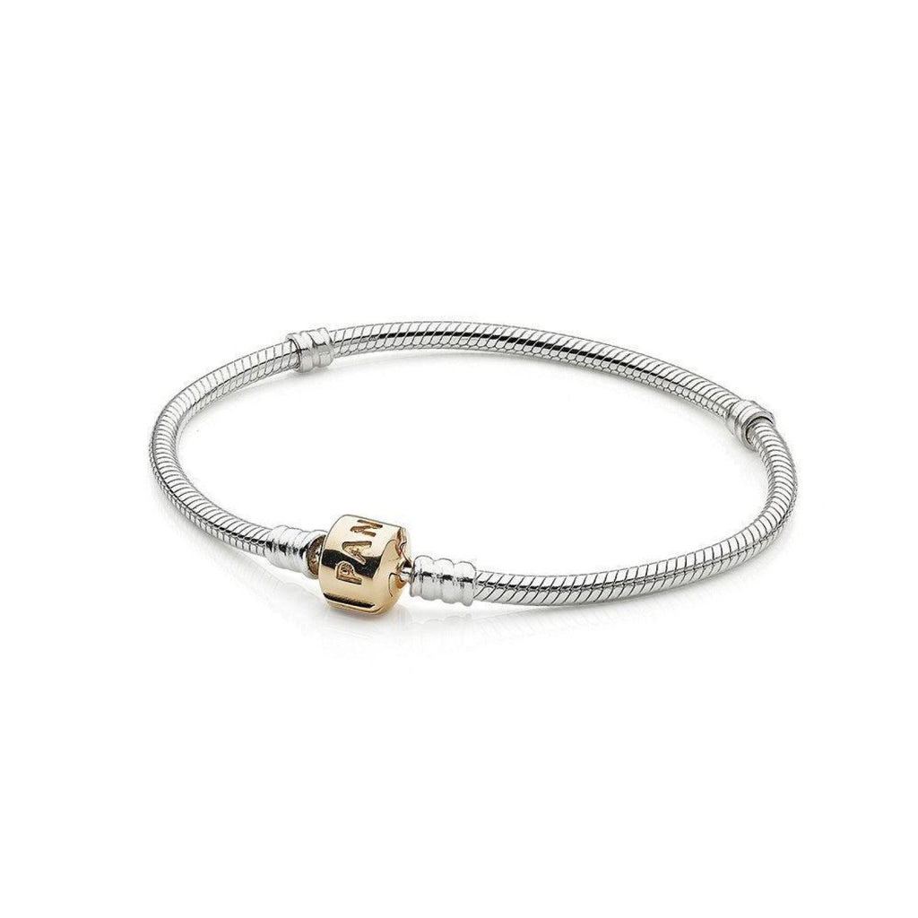 "Pandora Charm Bracelet with 14k Yellow Gold Barrel Clasp, 7.5""/19 cm Bracelets Pandora"