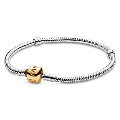 "Pandora Charm Bracelet with Gold Barrel Clasp, 8.3""/21 cm Long Bracelets Pandora"
