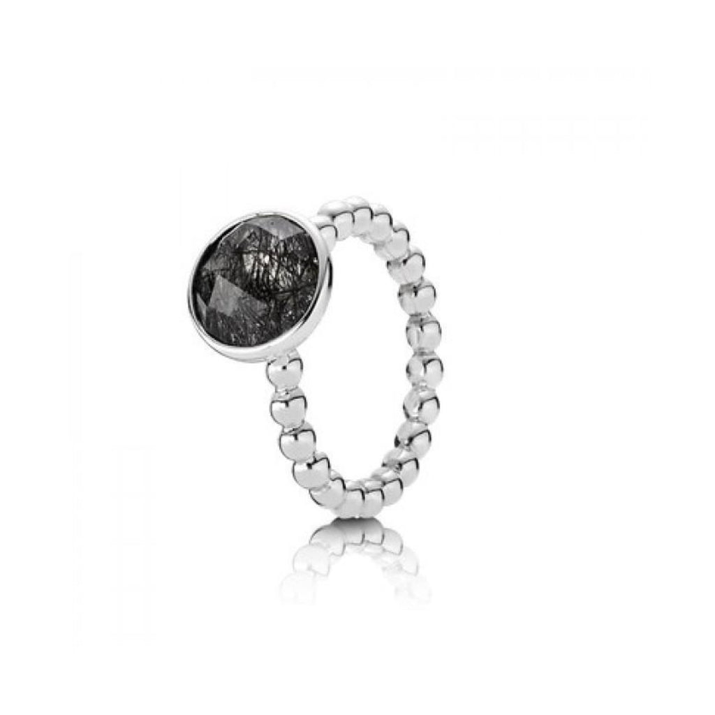 Pandora Dark Enchantment Black Rutilite Ring - Charms & Pendants