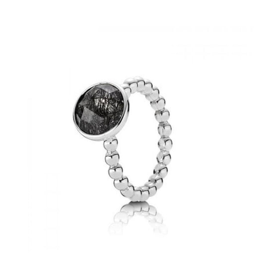 Pandora Dark Enchantment Black Rutilite Ring Charms & Pendants Oliver Jewellery