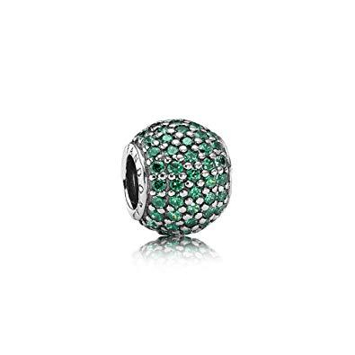Pandora Dark Green Pave Lights Charm Charms & Pendants Pandora