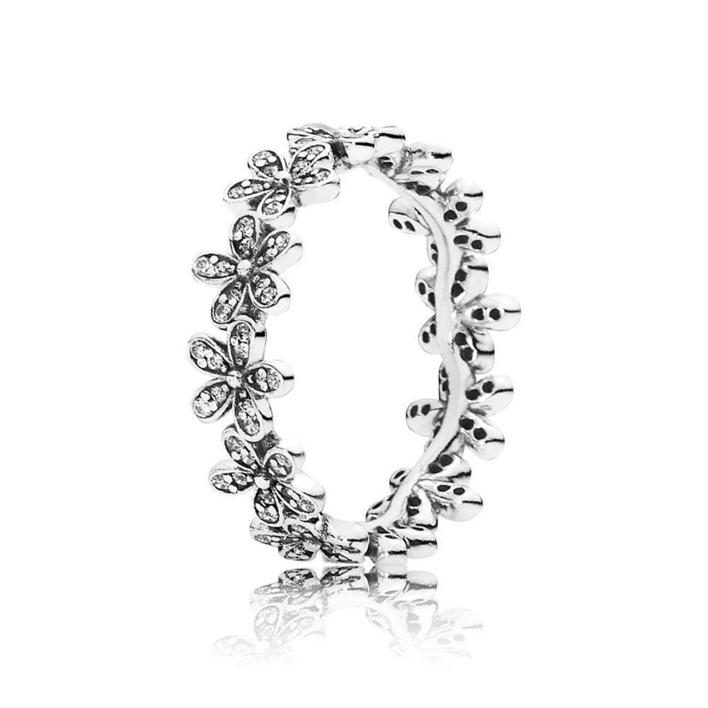Pandora Dazzling Daisy Meadow Stackable Ring Size 6 Rings Pandora