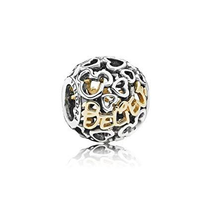 Pandora Disney, Two-Tone Believe Charm Charms & Pendants Pandora