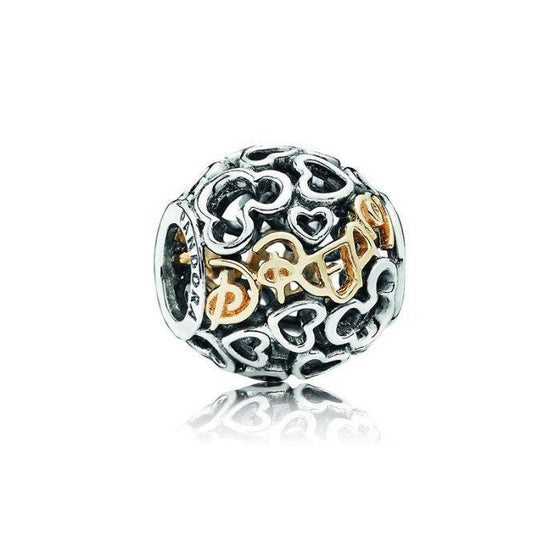 Pandora Disney, Two-Tone Dream Charm Charms & Pendants Pandora